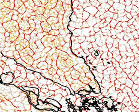 Sumatra shallow-level gravity lineaments